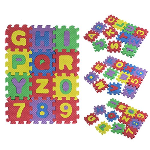 Iuhan 1 Set Of Fancy Bubble Puzzle Mat Alphanumeric Jigsaw Puzzle Gifts