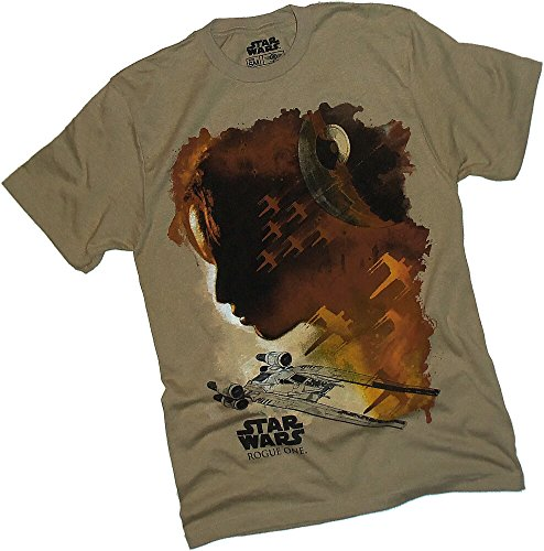 Rogue One: A Star Wars Story -- Water Color Profile Adult T-Shirt, Officially Licensed