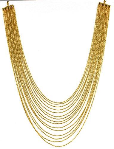Zaveri Pearls Non-Precious Metal Gold Multi-Strand Necklace For Women