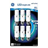 GE LED Bright Stik 9 watt Soft White 6 Pack 60-watt replacement