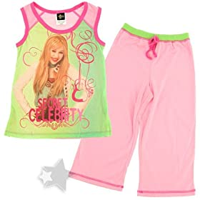 Hannah Montana Secret Celebrity Capri Pajamas for Girls