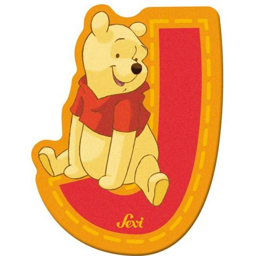Sevi 82768 Klebebuchstabe J Winnie the Pooh