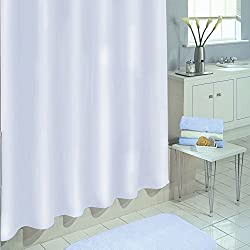 Ex-Cell Medium Weight PEVA Shower Curtain Liner, White