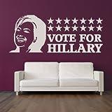Hillary Clinton voto iconos arte de pared adhesivo adhesivo pared 01 - 60cm Ancho - 24cm Altura - Negro Vinilo...