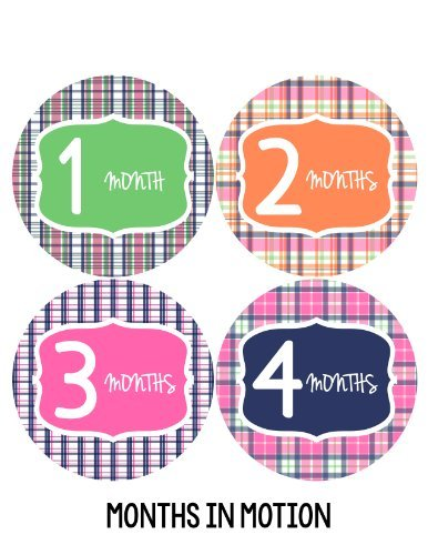 Months in Motion 131 Monthly Baby Stickers Milestone Age Sticker Photo Prop