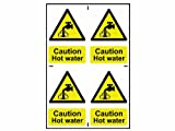 Scan 1309 200 x 300mm PVC Caution Hot Water Sign