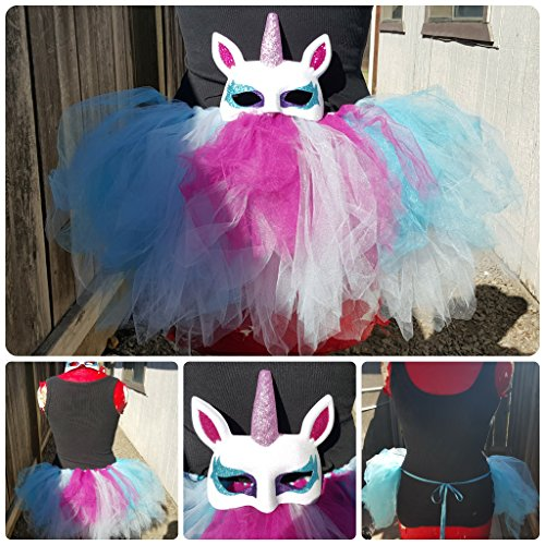 Unicorn Mask Bustle Tutu Rave Costume Set