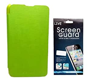 KolorEdge Flip Cover + Screen Protector for Nokia Lumia 625 Green