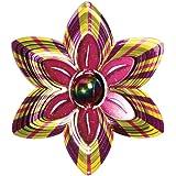 Iron Stop Gazing Ball Flower Wind Spinner