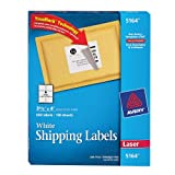 Avery Shipping Labels for Laser Printers with TrueBlock Technology, 3.333 x 4 Inches, White, Box of 600 (5164)