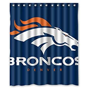 Deep Red Velvet Curtains Denver Broncos Shelves
