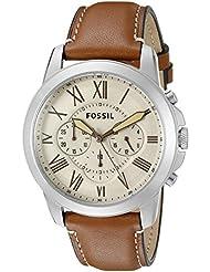 Fossil Grant Analog Beige Dial Men's Watch - FS5118