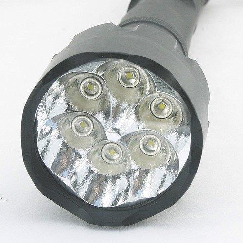 Tactical 6 x 3 watt Cree LED 1500 Lumen flashlight, 7611BK