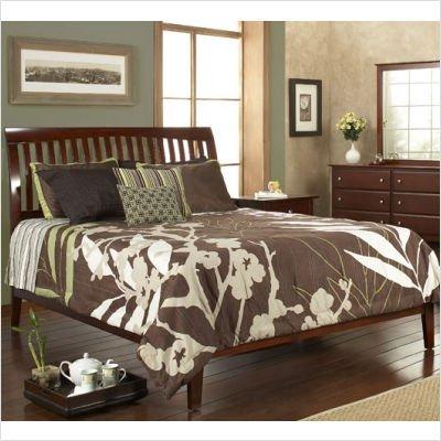 Modus Furniture Newport Low Profile Sleigh Bedroom Set (Cordovan) (Full, Queen, King, California King)