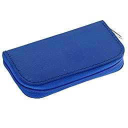 Generic Memory Card Carrying Case Blue