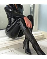 Forever Young Black PVC Dress Bodysuit Catsuit Catwoman