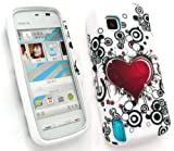 FLASH SUPERSTORE NOKIA 5230 CIRCLES AND HEARTS GEL SILICON CASE/COVER/SKIN