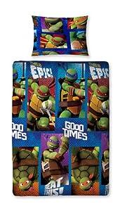 Character World Teenage Mutant Ninja Turtles Dudes Single Rotary Duvet Set