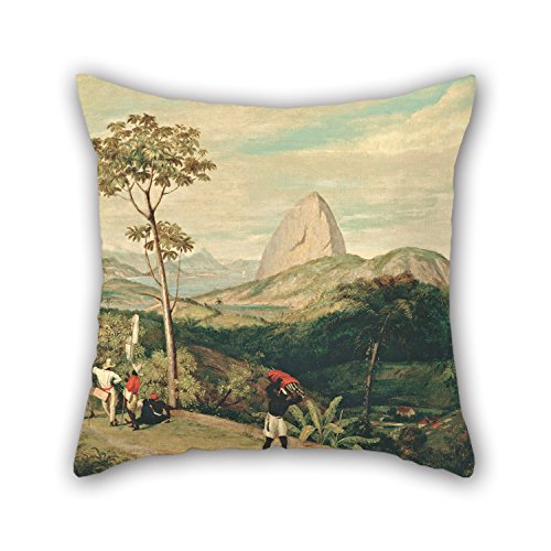 Alphadecor Throw Pillow Case Of Oil Painting Charles Landseer - View Of Sugarloaf Mountain From The Silvestre Road 16 X 16 Inches / 40 By 40 Cm,best Fit For Dining Room,bf,kitchen,deck Chair,divan, (Sugarloaf Decal compare prices)