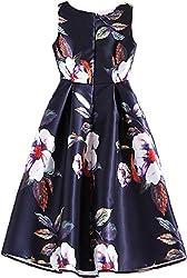 hk fashion satin fabrics digital print black white flowers western dress