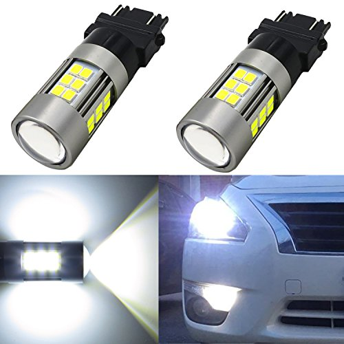 Alla Lighting Newest High Power 3035 SMD 3157 3156 3057 4157 LED Bulbs Super Extremely Bright 6000K Xenon White Lamp Replacement for Turn Signal Brake Tail Back Up Reverse Light (2000 Tahoe Front Lights compare prices)