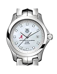 University of Alabama TAG Heuer Watch - Women's Link with Mother of Pearl