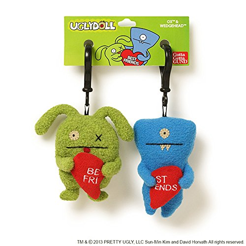 "Uglydoll Ugly Valentines BFF Clips 5.1"" Plush"