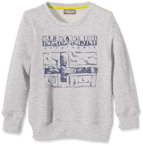 Napapijri - K Britain Summer, Felpa da bambini e ragazzi, grigio (gris (light grey mel 795)), 152 (Taglia produttore: 12)
