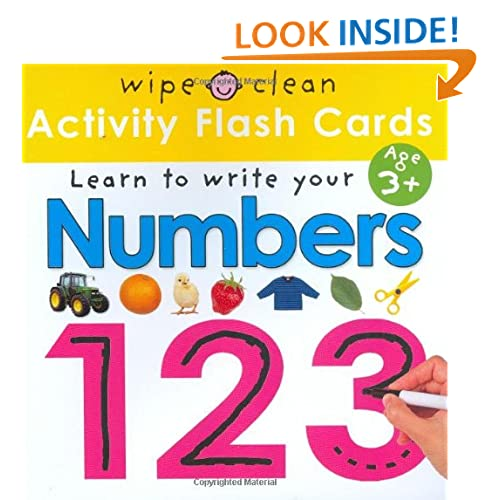 Wipe Clean Flash Cards 123 (Wipe Clean: Learn to Write)