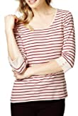 Pure Cotton Button Striped Top [T41-2500J-S]