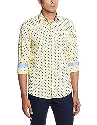 Arrow Sports Men's Casual Shirt (8907259809489_ASRS3047_46_Light Yellow)