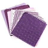 KING DO WAY Stoffpakete Baumwolltuch 7 lila Farben DIY Handarbeit