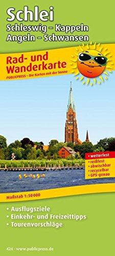 Rad- und Wanderkarte Schlei, Schleswig - Kappeln, Angeln - Schwansen: mit Ausflugszielen, Einkehr- & Freizeittipps, wetterfest, reissfest, abwischbar, GPS-genau. 1:50 000