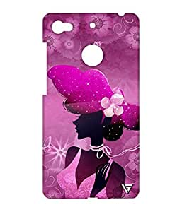 Vogueshell Pink Girl Printed Symmetry PRO Series Hard Back Case for LeEco Le 1s