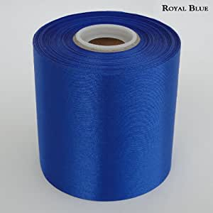 "4"" Wide Royal Blue Ceremonial Ribbon for Grand Openings/Re-Openings and Ribbon Cutting Ceremonies - 50 Yard Roll"