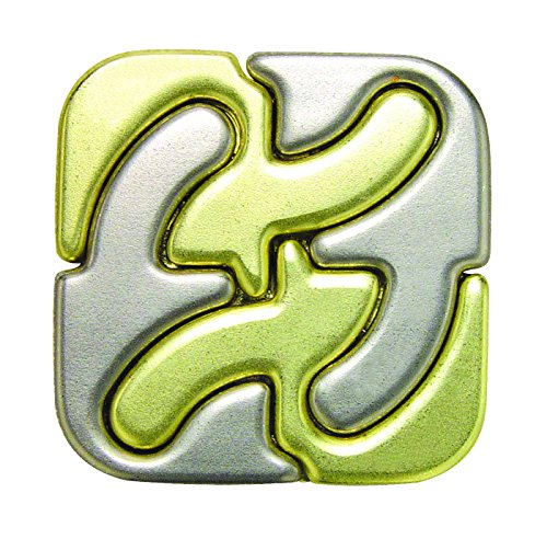 SQUARE Hanayama Cast Metal Brain Teaser Puzzle (Level 6)
