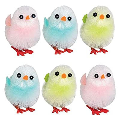 """Amscan Egg-stra Special Medium Chenille Chicks Easter Party Favors, Multicolor, 1 1/2"""" by Amscan"""