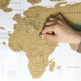 DBPOWER® Scratch Off World Map