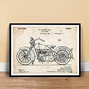 "HARLEY DAVIDSON 1928 MOTORCYCLE POSTER Patent Art Print (18"" x 24"")"