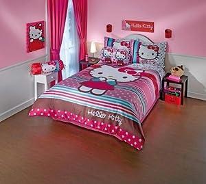 hello kitty duvet comforter and sheet set twin size hello kitty