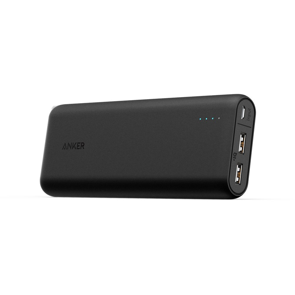 Anker PowerCore 15600 Super High-Capacity Fast-Charging Portable External Battery Charger with Industry-Leading 4.8A Output, PowerIQ and VoltageBoost Technology (Black)