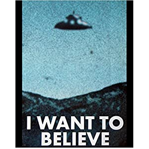 The X-Files Promotional Alien UFO Poster 8 x 10 Photo