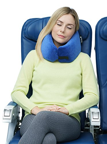 Travelrest - Ultimate Memory Foam Travel Pillow  &  Washable Cover