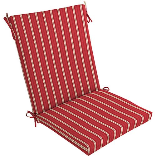 (4) Outdoor Patio Cushions ~ Racer Red Stripes NEW FREE SHIPPING