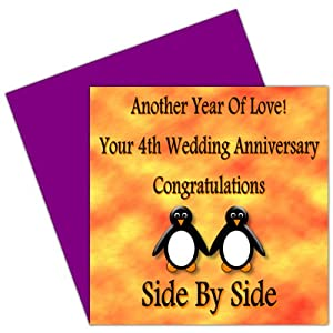 4th anniversary cards together with 4th wedding anniversary card