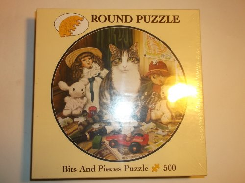Bits And Pieces 500 Piece Round Cat Puzzle