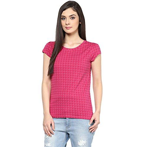 Honey-by-Pantaloons-Womens-Cotton-T-Shirt-205000005539653FuchsiaM