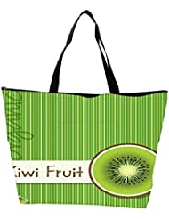 Snoogg Bright Organic Kiwi Fruit Card In Vector Format Waterproof Bag Made Of High Strength Nylon