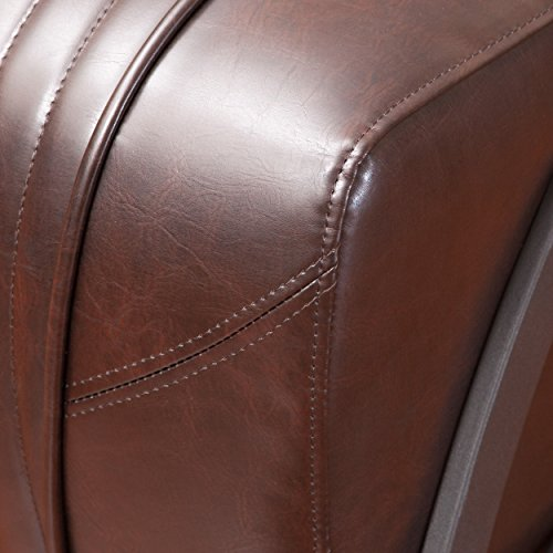 Best Selling Brenton Leather Slipper Chair Brown