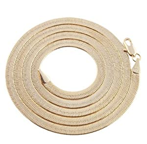 JOTW 2 Pieces of Goldtone 4mm 30 Inch Herringbone Chain Necklace